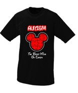 Autism The Best Kids On Earth (Disney Parody) T-shirt (Youth Small, Black) - $16.95