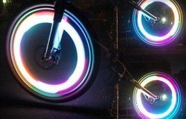 Bike Bicycle Motorcycle Colorful LED Wheel Lights Decoration - 3pcs x w/Rando... image 2