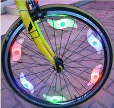 Bike Bicycle Motorcycle Colorful LED Wheel Lights Decoration - 3pcs x w/Rando... image 3