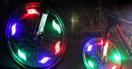 Bike Bicycle Motorcycle Colorful LED Wheel Lights Decoration - 3pcs x w/Rando... image 4