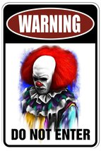 Warning Evil Clown - DO NOT ENTER  Funny Metal Sign for your garage, man... - $9.95