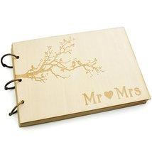 Wedding Guest Book, Rustic Wedding Guestbook Album Wood Engagement Anniv... - $14.70