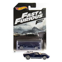 NEW 2014 Hot Wheels 1:64 Die Cast Car Fast & Furious Dark Blue FORD GT-4... - €12,79 EUR