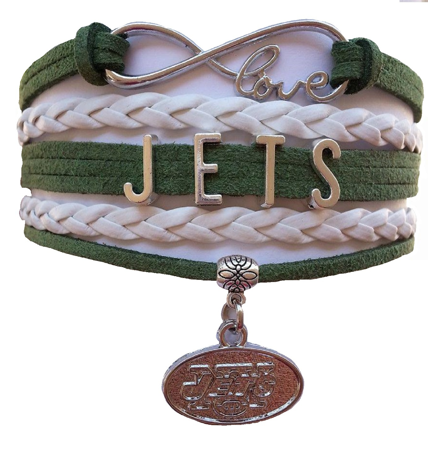 New York Jets Football Fan Shop Infinity Bracelet Jewelry