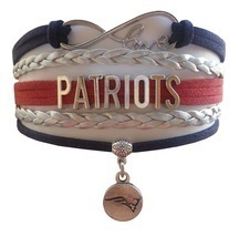 New England Patriots Football Fan Shop Infinity Bracelet Jewelry - $9.99