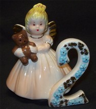 Josef Originals Angel Birthday Girl 2nd Year Ceramic Figurine Brown Eyes Blonde - $19.99