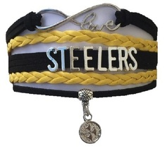 Pittsburgh Steelers Football Fan Shop Infinity Bracelet Jewelry - $9.99