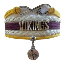 Minnesota Vikings Football Fan Shop Infinity Bracelet Jewelry - $9.99