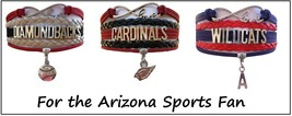 ARIZONA Sports Bracelet 3 Pack Gift Special - Wildcats, Diamondbacks & Cardinals - $25.99
