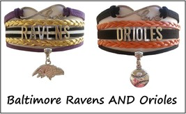 Baltimore Sports Infinity Love Bracelet 2 Pack Gift Special - Ravens AND Orioles - $14.99