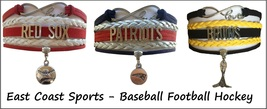 BOSTON Sports Bracelet 3 Pack Gift Special - Red Sox, Patriots AND Bruins - $25.99