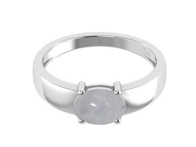 Rainbow Moonstone Shining Gemstone 925 Sterling Silver Jewelry Ring Sz6 SHRI1171