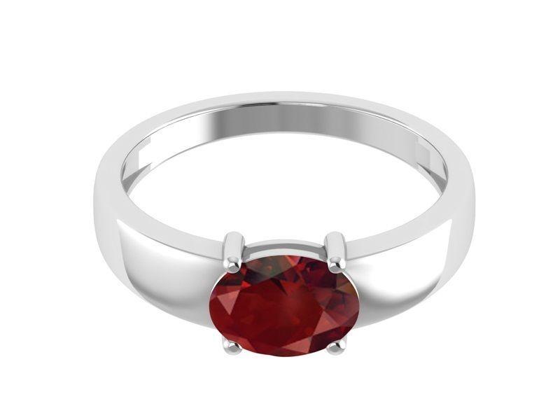 1.40 Ct Special Shiny Garnet Gemstone 925 Sterling Silver Ring Sz 6.5 SHRI1172