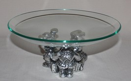 "Tumbling Santa Claus with 11"" Glass Bowl 1996 Christmas in Original Box - $14.80"