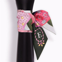 26 Letters Scarf New Design Print Women Silk Scarf 2018 Fashion Head Scarf Brand image 6