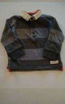 Carters Baby Boys Green Gray Stripes Sweater Shirt Size 18 Months  - $7.50