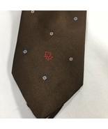 Christian Dior Brown Red Blue Mens Silk Blend Tie Classic Metro Mod - $19.77