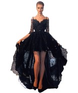 Women's High Low Black Lace Prom Dresses,Prom Gown, Ball Gown,Evening Dr... - $149.00