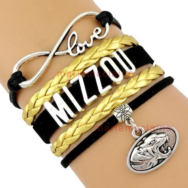 University of Missouri Tigers MIZZOU Fan Shop Infinity Bracelet Jewelry