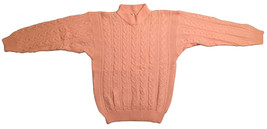 CARRIAGE COURT Crewneck Cable Knit Sweater • Light Pink • Womens Size M ... - $13.96