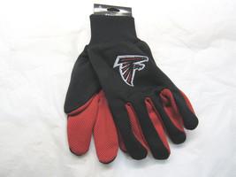 Nfl Nwt Team Color No Slip Palm Utility Gloves - Atlanta Falcons - $8.75