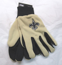 Nfl Nwt Team Color No Slip Palm Utility Gloves - New Orl EAN S Saints - $8.75