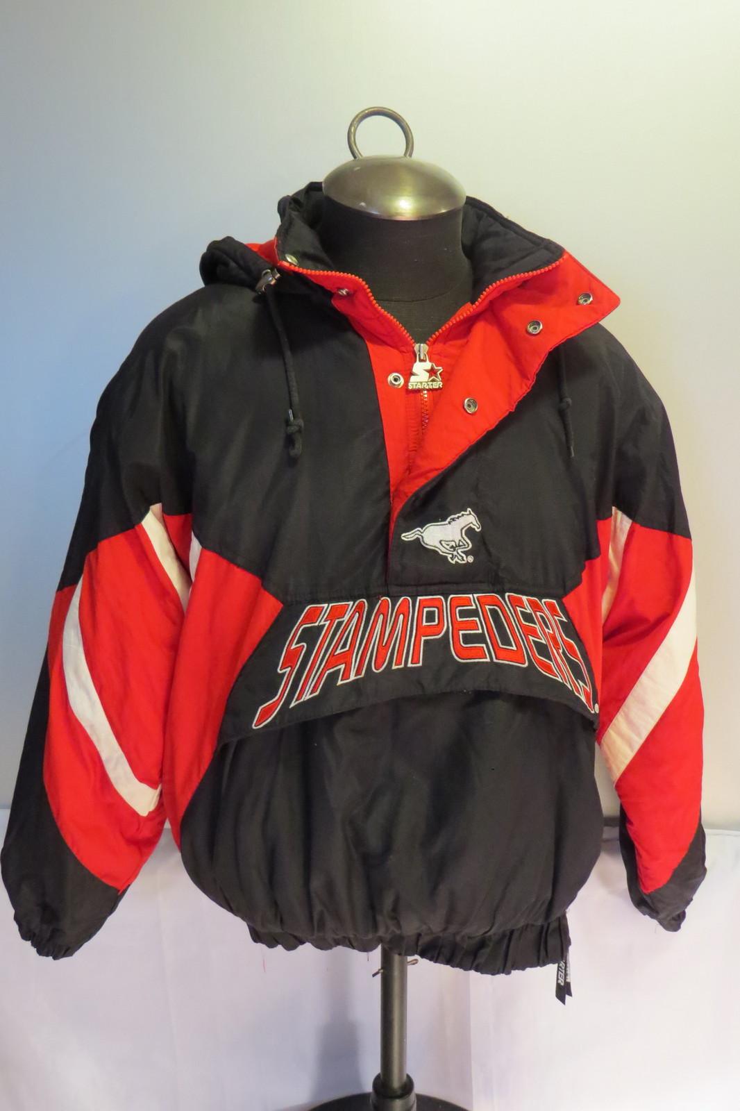 Calgary Stampeders Pullover Jacket Vtg By Starter