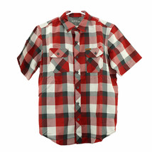 NEW Orvis Men's Short Sleeve Woven Tech Shirt - Red Plaid