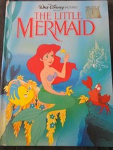 LITTLE MERMAID HARD COVER BOOK USED WALT DISNEY - $4.25