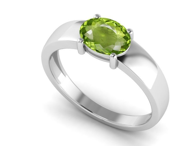 Royal Stylish Jewelry Peridot Solid 1.20 Ct Gemstone Silver Ring Sz 6 SHRI1166