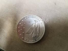 """BRD 10 EURO 2008 Silver Coin G. """"Franz Kafka"""" Jaeger Bird - $19.00"""