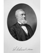 SELAH CHAMBERLAIN Vermont Canal & Railroad Builder - 1883  Portrait Print - $18.00