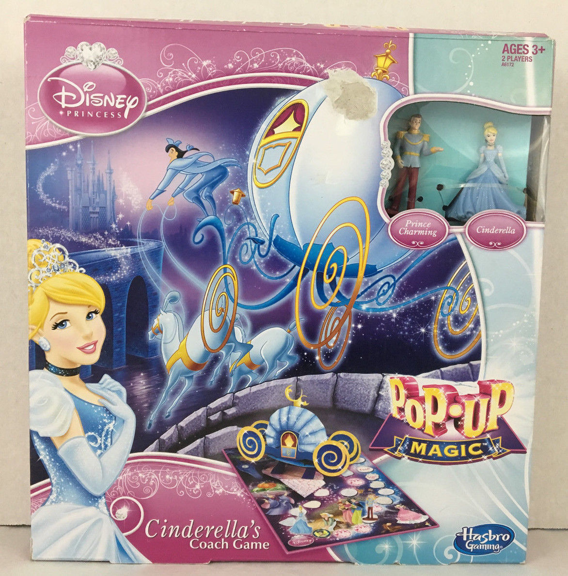 Primary image for Disney Princess Cinderellas Coach Game Pop Up Magic Age 3+ Hasbro Gaming