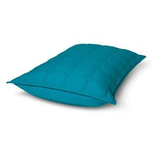 1 RE Room Essentials Teal Dot Stitch Quilted Sham NWT  - $14.99