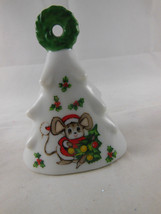 LEFTON Christmas Tree Bell Mouse With Tree #746 Vintage Japan - $9.89
