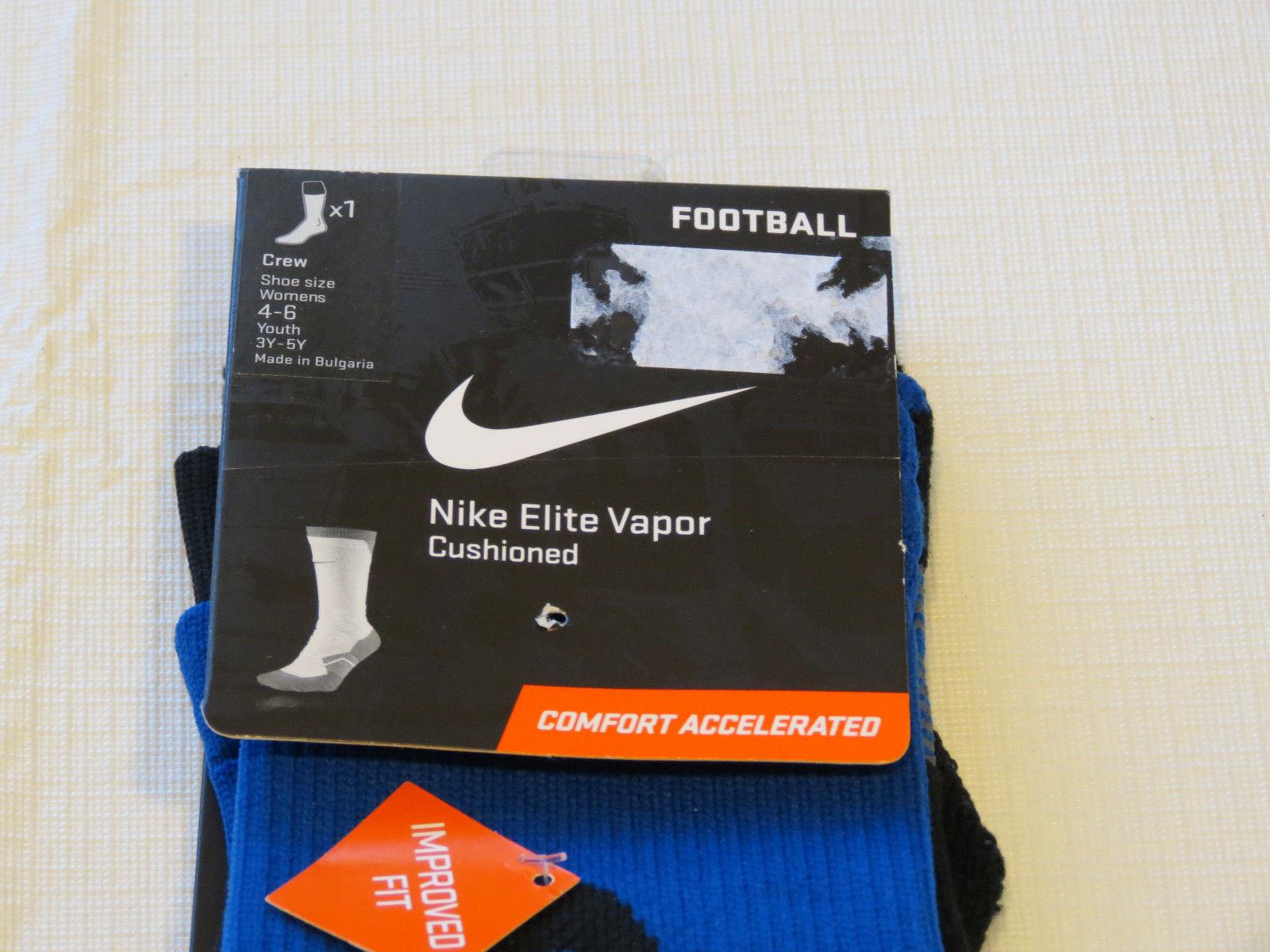 Nike womens S 4-6 Elite Vapor Cushioned Football Socks Comfort Accelerated NWT*^
