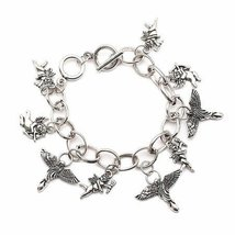 Inspired Silver Perfect Engraved Angels With Wings Toggle Style Classic ... - $590,81 MXN