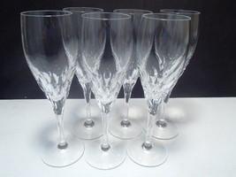 6 Gorham Diamond pattern Flutes - $84.95
