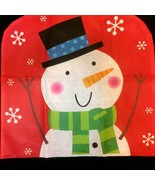 Fun Christmas SNOWMAN CHAIR COVER Winter Holida... - $3.93