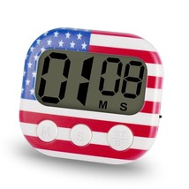 Kitchen Timer Extra Large LCD Display Big Digits Loud Alarm Magnetic USA... - $12.86