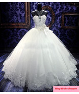 Bling Bride  Wedding Dress Bridal Gown With Sparkle Bling Crystals - $499.99