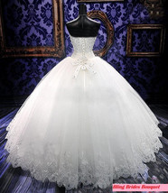 Bling Bride  Wedding Dress Bridal Gown With Sparkle Bling Crystals image 2