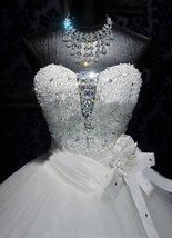 Bling Bride  Wedding Dress Bridal Gown With Sparkle Bling Crystals image 3