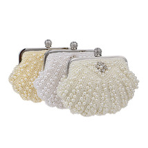 Womens Party Luxury Handbag  Women Bags Designer Pearl Evening Clutch - $89.99+