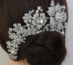 Tiara Wedding Hair Comb Bridal Accessories, Rhinestone Tiara - $29.99