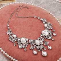 Bling Brides Gorgeous Large Rhinestone Crystal Bridal Tiara Necklace Earring Set image 3