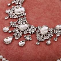 Bling Brides Gorgeous Large Rhinestone Crystal Bridal Tiara Necklace Earring Set image 4