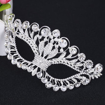 Princess Silver Venetian Masquerade Mask Party Wedding engagement Mask - $39.99