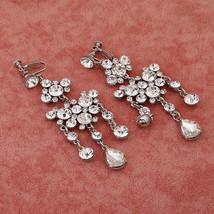Bling Brides Gorgeous Large Rhinestone Crystal Bridal Tiara Necklace Earring Set image 5