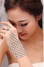 Bling Brides Crystal Hand  Jewelry Wedding Bridal Bracelet, crystal Dance glove - $29.99